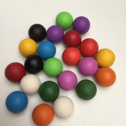 colored wooden balls 20mm