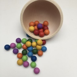 colored wooden balls 10mm