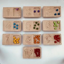 Domino Zahlen Karten mit Fach