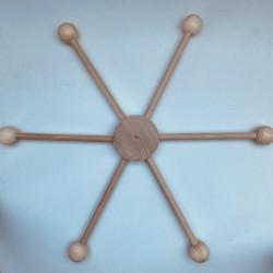 Mobile Stern aus Buchenholz