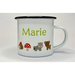 Personalised enamel mug for...