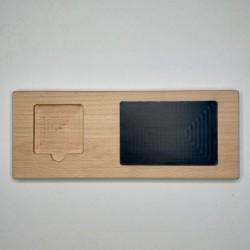 Domino Brett mit Tafel