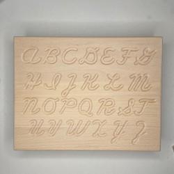 ABC board handwriting